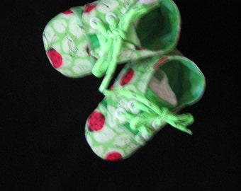 Girls Sneaker Style Ladybug Booties