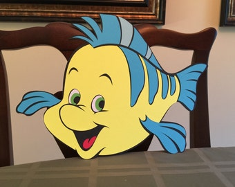1 ft Tall Flounder The Little Mermaid Party Decoration, Disney Party, Party Props, Disney Characters, Theme Party, Princess Party