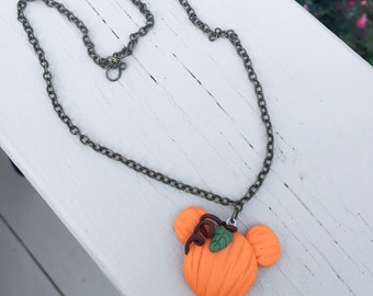 1.5 in. Polymer Clay Halloween Disney Mickey Mouse Pendant Necklace