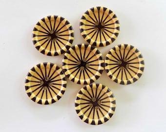 6 Pinwheel Buttons - #WS-00014