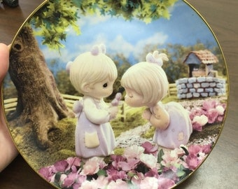 Collectible Enesco Precious Moments Plate by artist Sam Butcher The Hamilton Collection.