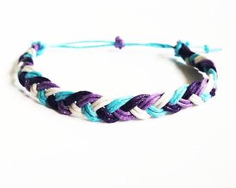 Flat Braid Bracelet, Friendship Bracelet, Hand Woven Bracelet, Braided Bracelet, Best Friend Gift, Adjustable Bracelet, Gifts for Girls