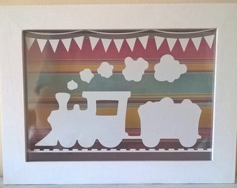 Personalised Child's Name Vinyl Cut Train (frame not included)