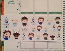 Ice character stickers