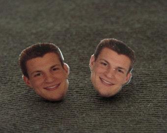 Rob Gronkowski earrings, Gronk, New England Patriots, Go Pats!
