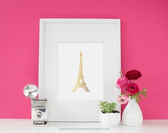 Eiffel Tower GOLD FOIL print - Wall art