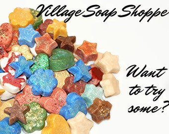 Fancy Soap Samples, Trial Size Soap, Gift Soap, Party Favor Soaps, Small Soap, Moisturizing Soap, Scented Soap, Pretty Soap, FANCY SAMPLES