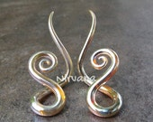 """Real Silver/Gold Color Glass Note Spirals 10g 8g 6g 4g 2g 0g 00g 7/16"""" 1/2"""" 9/16"""" 5/8""""  2.5 mm 3 mm 4 mm 5 mm 6 mm 8 mm 10 mm - 16 mm"""