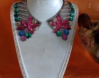 Italian Vintage Paillete Collar 1950