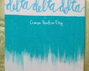 Tri Delta Glitter Ombre Canvas Custom Color