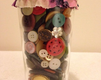 A jar of buttons!