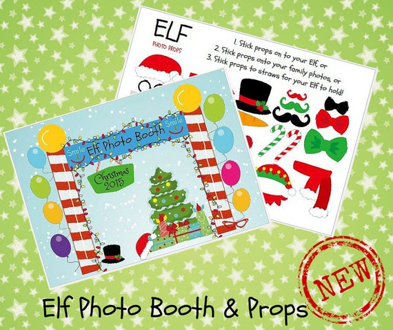 Elf On The Shelf Photo Booth Props