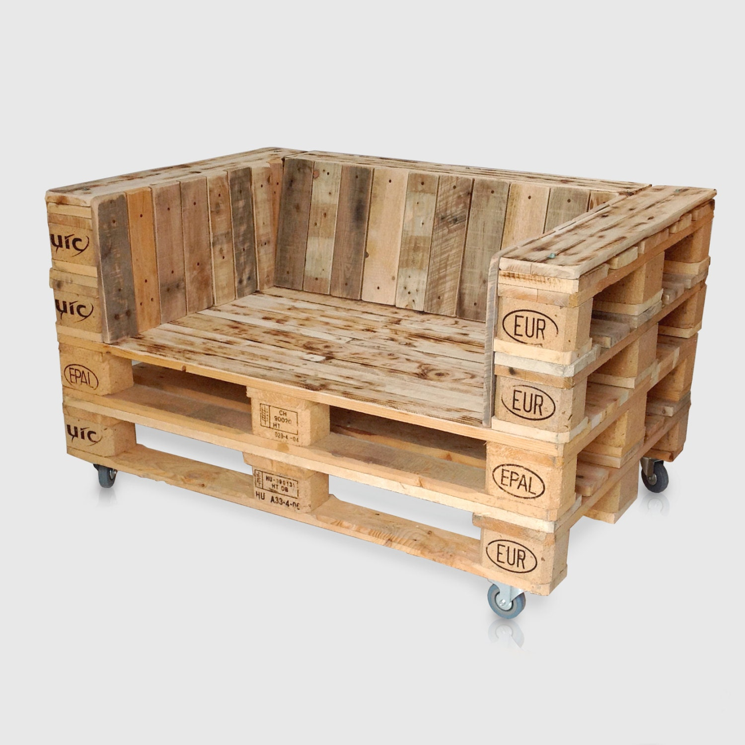 Pallet Chair: Pallet Sofa Chair / Love Seat For Home Or Garden. Upcycled