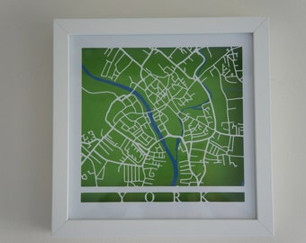 York cut map - White
