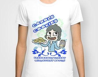 The Walking Dead, Carol's Cookies, walking dead tshirt, Carol Peletier, Rick grimes, carl grimes, geeky tshirt, geek