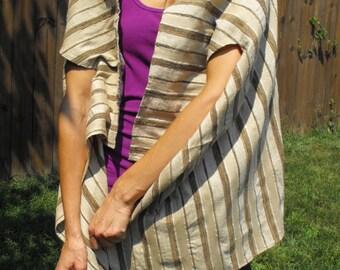 Silk shawl, handmade shawl, gift for her, womens gift, wardrobe accessory, pure silk, raw silk, fashion accessory, special occasion, wrap