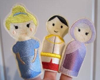 Cinderella finger puppets