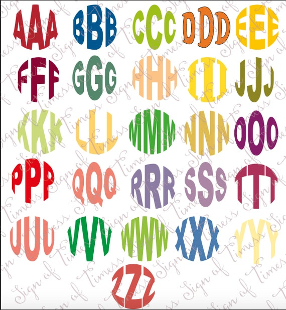 circle monogram fisheye monogram monogram font svg dfx