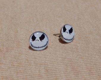 Jack Skellington Earrings, Skeleton Earrings, Jack Skellington Stud Earrings, Skull Earrings, Nightmare Before Christmas  Earrings, Skulls