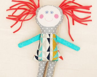 New Baby Gift Soft Doll – Handmade Rag Doll – Textile Doll, Cloth Doll, Stuffed Toy, Fabric Doll - Baby Shower Gift, Toddler Gift