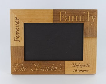 Custom Wood Engraved Photo Frames, Personalized Christmas Gift, Family Picture Frame, Customized Present, Vacation Frames by Froolu