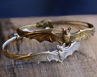 Bat Bracelet, Halloween Bracelet, Bat Jewelry, Halloween Jewelry, Stack Bracelets, Bangle Bracelet, Vampire Bracelet, Vampire Costume BR477