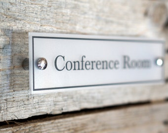 Door Name plate Acrylic Conference Room Sign Office Decor Wall Sign Office Accessories (Shown as 2.5 x 10 inches)