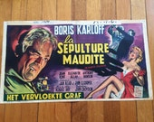 The Haunted Strangler Boris Karloff Original 1958 Belgium Movie Poster