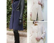 Coat and Trench PDF Pattern, Woman Coat, Woman Trench, Woman Coat Pattern, Woman Trench Pattern, Long coat pattern ,Coat PDF Pattern