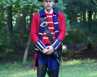 "Outlander,"" Captain Jack Randall""  inspired, 1700""s English Revolutionary period Military Coat."