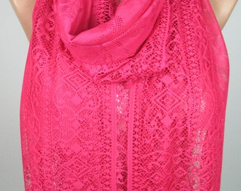 Tulle Scarf Fuchsia Scarf Spring Summer Scarf Wedding Scarf Bridesmaids Gift Women Fashion Accessories Gift Ideas For Her
