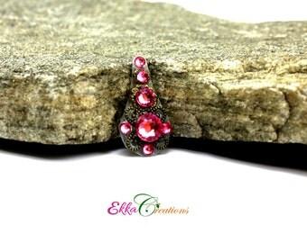 Pink bindi/India bindi/pretty bindi/Reusable Bindi/forehead jewelry/medium size bindi
