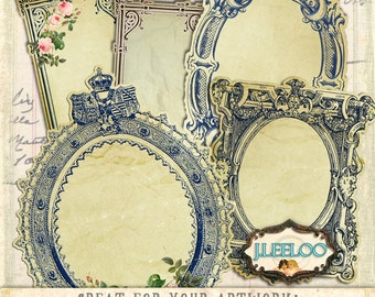VICTORIAN LABELS gift tags jewerly holder - writable vintage collage png hang tags - Digital collage sheet instant download - tl13