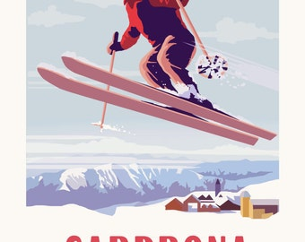 Cardrona Vintage Style Travel Poster