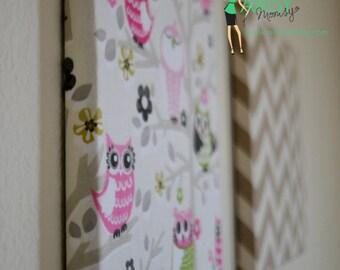 Nursery Custom Fabric Covered Cork Board - Nursery Decor Baby Girl, Baby Shower Gift, Wall Accent