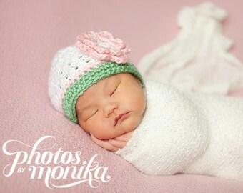 Newborn Girl Hat, Ready to Ship, Newborn Photo Prop, Toddler Girl Hat, Crochet Baby Hat, Baby Girl Hat, Baby Hat, Baby Girl, Newborn Beanie