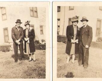 Vintage Photographs, Lot of 2, Paper Ephemera, Black and White Photos, 1940s Photos, vintage photography, vintage photograph, vintage photo