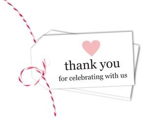 Custom Editable Heart Tags ~ SMALL ~ DIY Printable Favor Tags ~ Custom Gift Tags ~ Wedding Tags