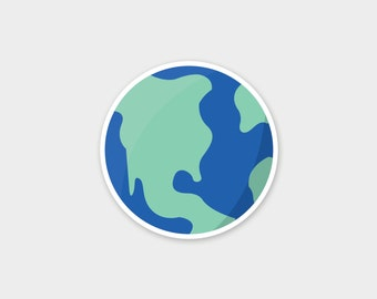 """3"""" x 3"""" Earth Sticker Pack"""