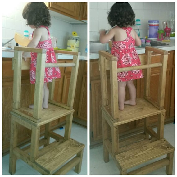 Child Step Stool With Rails