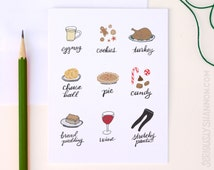 Funny Holiday Card Set, Stretchy Pants, Set of 8 A2 Greeting Cards