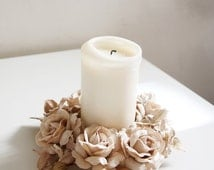Candle rings Candle Wreath Wedding decor Wedding Table decor Candle decoration Table arrangement Floral decor Candle Holder Winter Wedding