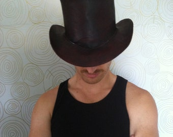 Custom Handmade Leather Top Hat