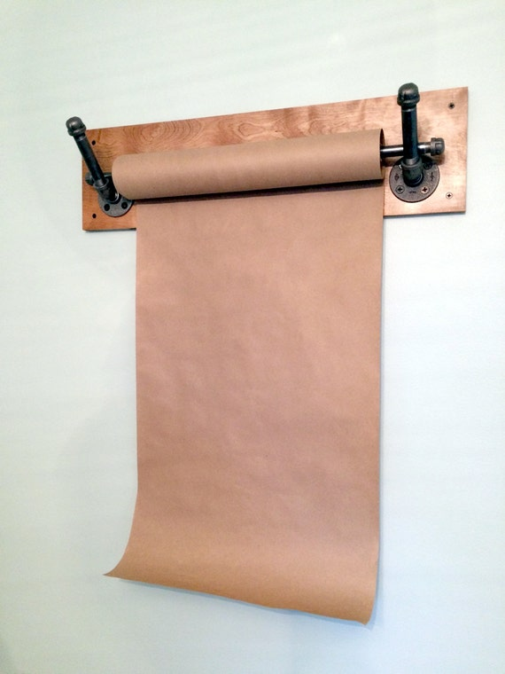 Kraft Paper Dispenser Wall Mount Industrial Pipe By