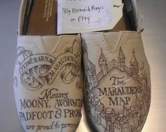marauders map shoes etsy