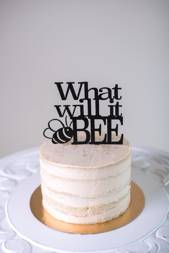 What Will It Bee Gender Reveal Cake Topper Baby