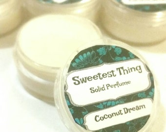 Sweetest Thing 100% Natural Solid Perfume Coconut Dream