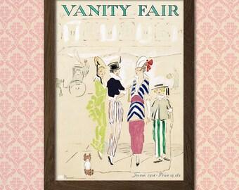 Vanity Fair Cover Print 1914 - Vintage Fashion Arts Fashion Illustration Feminine Poster Vanity Fair Print Fashion Print  t