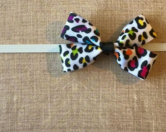 Rainbow Cheetah Baby Headband