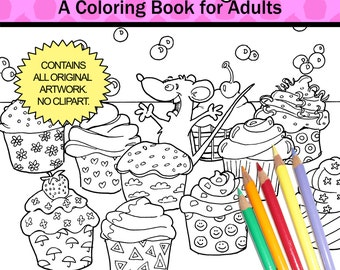 Sweet Surprise - Coloring Book for Adults - by Chroma Tomes
